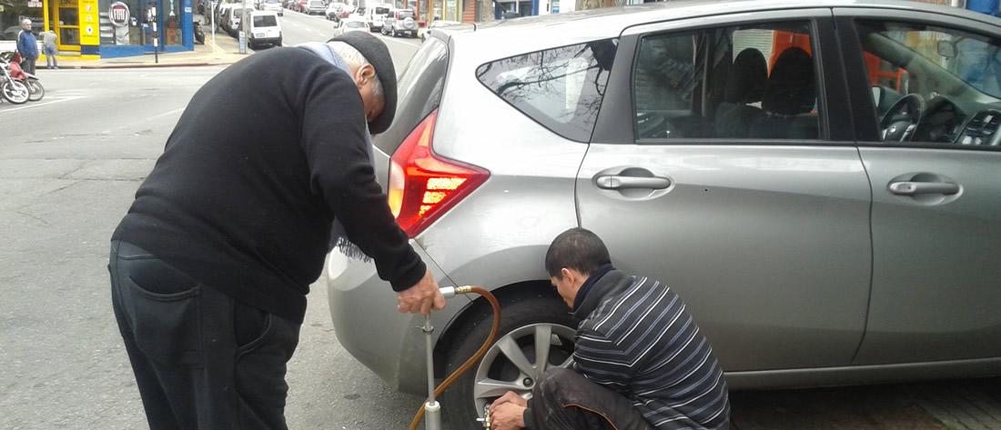 Reparación instantánea de rueda